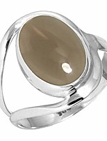 cheap -925 sterling silver women jewelry natural smoky topaz ring size 6