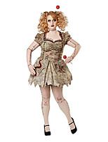 cheap -women's size plus costume, tan, 3x large
