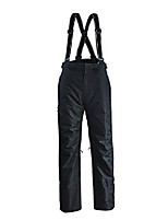 cheap -ski snow bib pant with adjustable suspender waterproof breathable windproof for men warm insulated snowboard pants (s, black)