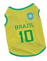 cheap -pet puppy world cup brazil jerseys small dog pet clothes vest t-shirt m