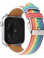 cheap -compatible bands for apple watch 38/40mm, pu leather replacement rainbow lgbt wristband compatible for apple watch series 5 4 3 2 1 (a, 38/40mm)