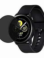 cheap -privacy screen protector,compatible for samsung galaxy watch active privacy anti-spy pet film screen protector prevent fingerprint smudge-proof 1pc / 2pcs (black(1pc))