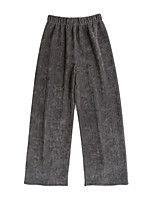 cheap -Women's Basic Comfort Daily Going out Wide Leg Pants Pants Solid Colored Full Length Black Dark Gray