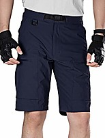 cheap -men's lightweight breathable quick dry tactical shorts hiking cargo shorts nylon spandex (dark navy 40w x 10l)