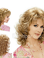 cheap -Synthetic Wig Hathaway Middle Part Wig Blonde Golden Curly Wig Long Hair With Bangs Synthetic Hair 12 inch Women Synthetic Sexy Lady Hairstyle