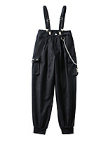 cheap -Women's Basic Streetwear Comfort Daily Going out Jogger Tactical Cargo Pants Solid Colored Full Length Pocket Black