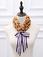 cheap -Sleeveless Scarves Faux Fur Party / Evening / Office / Career Women's Scarves With Leopard Print / Lace-up