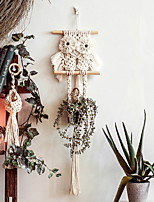 cheap -Hand Woven Macrame Wall Hanging Ornament Bohemian Boho Art Decor Home Bedroom Living Room Decoration Nordic Handmade Tassel Cotton Owl