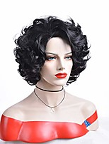 cheap -gnimgil female short curly black hair wigs for women ladies natural layered synthetic heat resistant hair daily wear halloween fancy dress party wig
