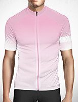 cheap -CAWANFLY Men's Short Sleeve Cycling Jersey Polyester Pink Gradient Bike Jersey Top Mountain Bike MTB Road Bike Cycling Quick Dry Reflective Strips Sweat-wicking Sports Clothing Apparel / Stretchy