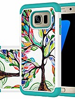 cheap -designed for galaxy s7 edge case/galaxy s7 edge case girls women, shockproof defender heavy duty phone cover cases for samsung galaxy s7 edge (luck tree)