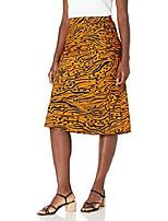 cheap -women's pull on midi slip skirt, bronze, 10