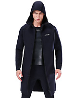 cheap -SLINX Men's Women's Wetsuit Top 3mm SCR Neoprene Hoodie Top Windproof Breathable Quick Dry Long Sleeve Front Zip - Diving Surfing Water Sports Patchwork / Stretchy