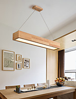 cheap -60/90/120cm LED Pendant Light Strip Design Single Design Wood Painted Finishes Modern Nordic Style Christmas Decoration 110-120V 220-240V
