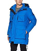 cheap -men's water resistant storm parka, pop blue, x-large