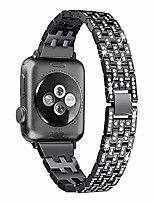 cheap -bling metal bands compatible with apple watch band 38mm 40mm iwatch se series 6/5/4/3/2/1, dressy rhinestone bracelet wristband women, black