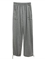 cheap -Women's Basic Comfort Daily Going out Jogger Sweatpants Pants Solid Colored Full Length Pocket Black Gray