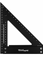 cheap -professional carpenter square layout tools framing square woodworking tools rafter angle square - aluminium/angle scale/easy-read - 200 mm metric