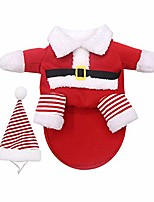 cheap -pet christmas santa claus clothes small large dogs cat cute warm outfit costume 5xl