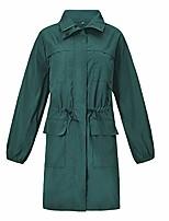 cheap -amiley women's raincoats waterproof lightweight adults rain jacket active outdoor zipper hooded with pockets (2xl, green)