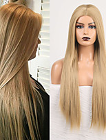 cheap -Cosplay Costume Wig Synthetic Wig Straight Natural Straight Middle Part Wig Long Light Brown Synthetic Hair Women's Odor Free Fashionable Design Soft Light Brown / Heat Resistant