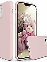 cheap -silicone case compatible with iphone 12 pro case and iphone 12 case 6.1 inch 2020, liquid silicone phone case (with microfiber lining) designed for iphone 12 & 12 pro (pink)