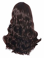 cheap -handmade lace front wigs for drag queen natural hairline middle part women girls dark brown