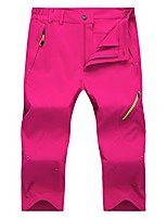 cheap -women's outdoor quick dry waterproof breathable stretch 3/4 capri pants rosered l