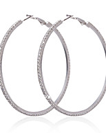 cheap -Women's Hoop Earrings Geometrical Lucky Imitation Diamond Earrings Jewelry Silver For Wedding