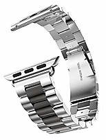 cheap -stainless steel metal strap business replacement band for apple watch series 1 2 3 4 (42mm and 44mm silver and black)