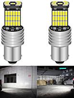 cheap -2pcs P21W 1156 BA15S LED Bulbs Car Lights Turn Signal Reverse Brake Light R5W 4014 LEDs 12V DC Automobiles Lamp DRL for Skoda