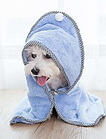cheap -pet bathrobe dog towel microfiber pet robe, lovely fast dry pet bath towel with button super absorbent for cleaning pet dog cat puppy,blue,m