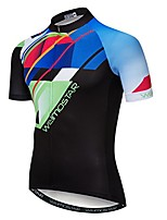cheap -bike short sleeve cycling jersey men sports mtb breathable riding top shirts color black xl