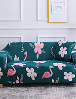 cheap -Flamingo Print 1-Piece Sofa Cover Couch Cover Furniture Protector Soft Stretch Slipcover Spandex Jacquard Fabric Super Fit for 1~4 Cushion Couch and L Shape Sofa,Easy to Install(1 Free Cushion Cover)