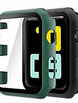 cheap -(2 pack) case compatible with apple watch series 3/2 42mm, built-in ultra thin hd tempered glass screen protector overall cover replacement for iwatch series 3/2, black/dark green
