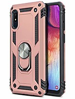 cheap -phone case for [samsung galaxy a10e], [ring series][rose gold] full rotating metal ring cover with kickstand for galaxy a10e (tracfone, simple mobile, straight talk, total wireless)