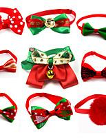 cheap -Dog Cat Collar Christmas Dog Collar Tie / Bow Tie Adjustable Flexible Outdoor Walking Santa Claus Snowman Christmas Tree Polyester Golden Retriever Corgi Bulldog Bichon Frise Schnauzer Poodle Green