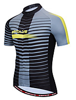 cheap -Men's Short Sleeve Cycling Jersey Grey Bike Top Quick Dry Sports Clothing Apparel / Micro-elastic / Athleisure