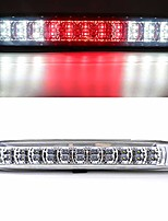 cheap -rear roof center led third 3rd brake cargo light assembly, high mount stop tail light replacement for 2004-2012 chevy colorado,2004-2012 gmc canyon (chrome housing clear lens)