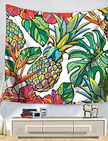 cheap -Wall Tapestry Art Decor Blanket Curtain Picnic Tablecloth Hanging Home Bedroom Living Room Dorm Decoration Polyester Colorful Pineapple And Leaves