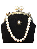 cheap -Women's Bags Polyester Top Handle Bag Pearls Beading Plain Daily 2021 White Black Blue