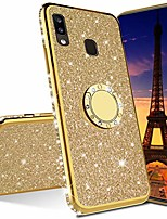 cheap -isadenser for samsung a20s case galaxy a20s case ultra-slim glitter bling diamond luxury plating silicon tpu soft cover with ring stand holder for samsung galaxy a20s,gold tpu with stand holder