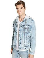 cheap -men's harold removable hooded basic denim jacket