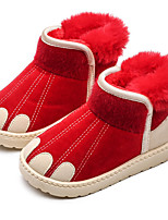 cheap -Boys' Girls' Boots Snow Boots PU Snow Boots Little Kids(4-7ys) Big Kids(7years +) Walking Shoes Black Red Gray Fall Winter / Booties / Ankle Boots / Rubber