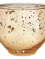 cheap -ovoid mercury glass votive candle holders 2.75-inch - speckled gold (set of 12)