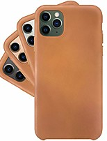 cheap -  innovative pu leather case, ultra soft and smooth - iphone 11 pro, caramel