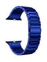 cheap -compatible for apple watch band 44mm 42mm, solid stainless steel metal link bracelet bands replacement for iwatch strap compatible for apple watch se series 6/5/4/3, blue