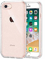 cheap -iphone se 2020 case, iphone 8 case, glitter bling sparkle iphone 7 clear case for women girls, protective shockproof slim fit flexible bumper cover for iphone 7, 8 and se 2nd, glitter clear