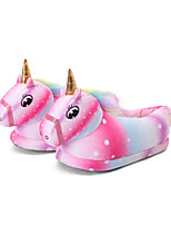 cheap -Adults' Kigurumi Pajamas Slippers Unicorn Flying Horse Onesie Pajamas Cotton Pink Cosplay For Men and Women Animal Sleepwear Cartoon Festival / Holiday Costumes / Shoes