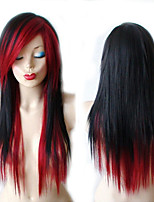 cheap -Black Wine Red  Hairstyle Wig  Long Straight Black Hair Wig Cosplay Wig Heat Resistant